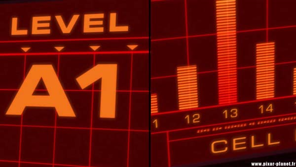 The coordinates of Mr. Incredible's cell in The Incredibles.