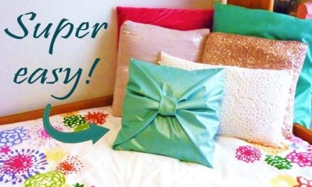 Can't Handle The Needle & Thread? Here Are 4 Fantastic Ways To Create 'No-Sew' Pillow Cover