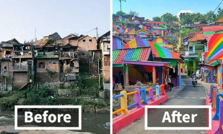 Indonesian Government Invests $22K To Turn Slum Area Into A Work Of Art
