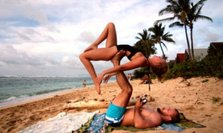 Man Surprises Girlfriend By Proposing Her In The Middle Of Couple's Yoga Routine