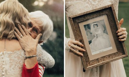 Bride Wears Grandma's Old Wedding Dress From 1962 And Surprises Her On Her Wedding Day
