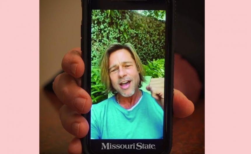 View Brad Pitt Surprise The Missouri State Graduating Class Along with Video Message!