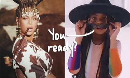 Glowing blue Ivy Steals The Display In Beyoncé's Black Can be King Visual Album — Reactions Here!