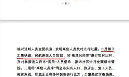More than One Million Chinese Had been Monitored by Chinese Program via COVID-19 Database in a single Month Alone
