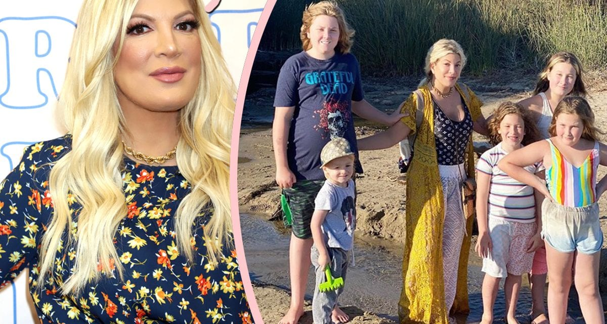 Tori Spelling & Kids 'Unharmed' After 'Man With A Device Gun' Started Shooting With Hotel!