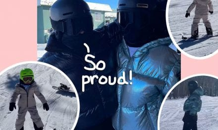 Stormi Webster Shows Off Stellar Snow boarding Skills On The Slopes Associated with Aspen! (VIDEO)