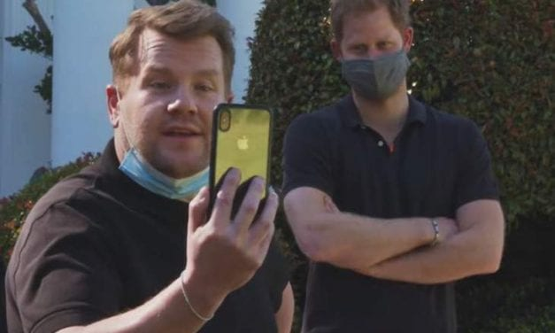 Knight in shining armor Harry Made Their Late-Night Show First (Featuring A FaceTime Cameo By Meghan Markle)