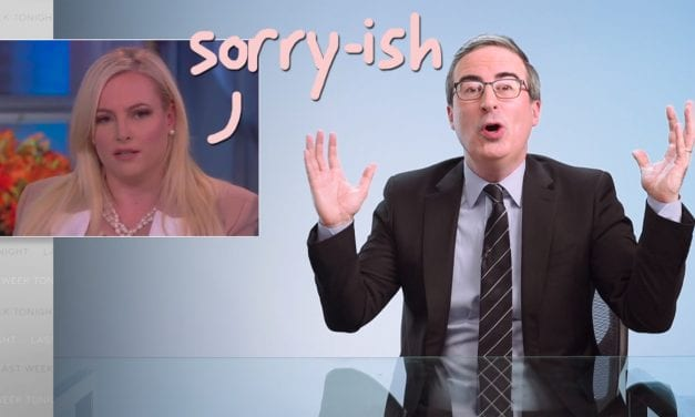 Meghan McCain Apologizes Right after John Oliver DRAGS Her For Helping Trump' s Hurtful CHY-NA VIRUS Speak