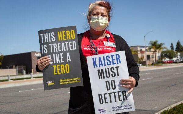 Medical center Employees Gather Throughout California to Demonstration Bonus Pay Frustration