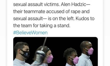 ALL OF US Olympic Fencers Put on Pink Masks In order to Protest Their Teammate Accused Of Sex Misconduct