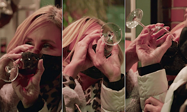 Open up Post: Hosted Simply by Sonja Morgan Consuming A Glass Associated with Wine Through The girl Mask